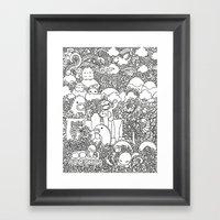 Oodles of Doodles of Singapore (White) Framed Art Print