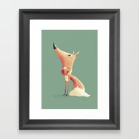 Freddie the Fox Framed Art Print
