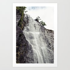 Waterfall Disperses Against the Rocks Art Print