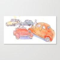 Vintage Cars Canvas Print