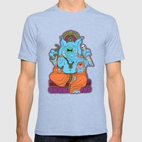 Ganesha Mens Fitted Tee Tri-Blue SMALL