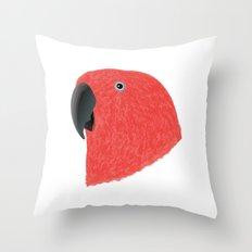 Eclectus [Female] Parrot Throw Pillow