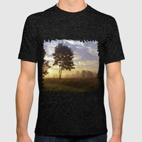 One summer day (wide) Mens Fitted Tee Tri-Black SMALL
