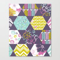 Garden Party Festive Hexi Canvas Print