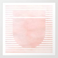 Striped Watercolor - Pin… Art Print