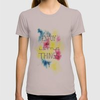Enjoy the little things Womens Fitted Tee Cinder SMALL