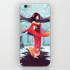 A walk in the asian winter iPhone & iPod Skin