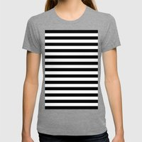 Stripes. Womens Fitted Tee Tri-Grey SMALL