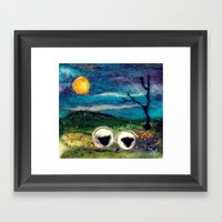 Highland Sheep Framed Art Print