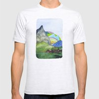 Landscapes / Nr. 6 Mens Fitted Tee Ash Grey SMALL