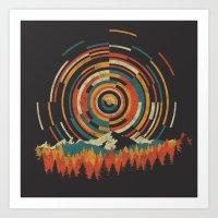 The Geometry Of Sunrise Art Print