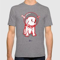 Space Puppy Mens Fitted Tee Tri-Grey SMALL
