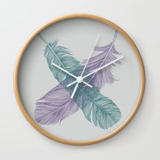 X Feathers Wall Clock