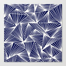 TriangleAngle (Navy) Canvas Print