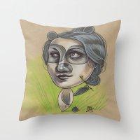 DAINTY PANDA Throw Pillow