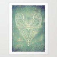 Battered Vintage Heart Art Print