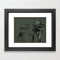Sit.  Good boy.  |  Halo Framed Art Print