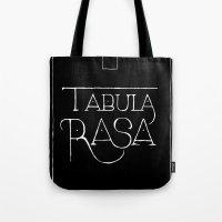 Tabula Rasa (black) Tote Bag