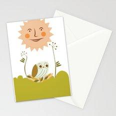 Owl sun Stationery Cards