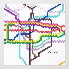 London Underground Square Canvas Print