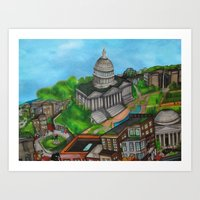 The Capitol Building - D… Art Print