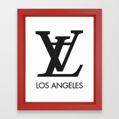 LA los angeles Framed Art Print