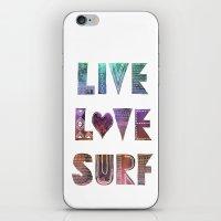 Live Love Surf - I iPhone & iPod Skin