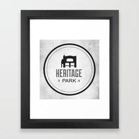 Heritage Park Framed Art Print