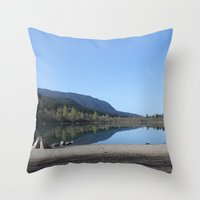 Rattle Snake Lake Throw Pillow