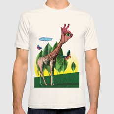 Girafe Mens Fitted Tee Natural SMALL