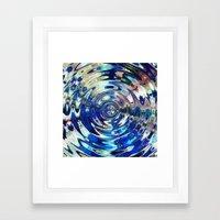 Water Element Ripple Pattern Framed Art Print