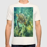 Sea Turtle Mens Fitted Tee Natural SMALL