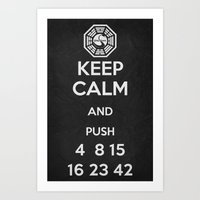Keep Calm - Lost Poster Art Print