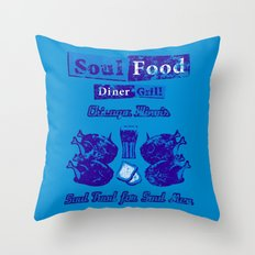 Soul Food for Soul Men Throw Pillow