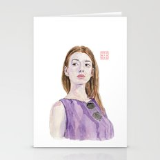 Portrait Of A Fashion Mo… Stationery Cards