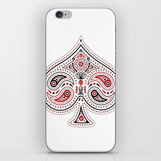 83 Drops - Spades (Red & Black) iPhone & iPod Skin
