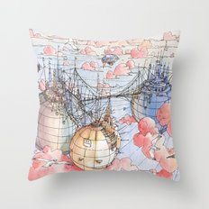 Le Tre Mongolfiere Throw Pillow