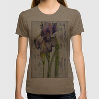 Iris Abstract Womens Fitted Tee Tri-Coffee SMALL