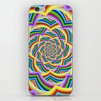 Colorful Curved Chevron Spiral iPhone & iPod Skin