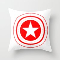 Capitaine Amérique Throw Pillow