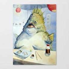 Fish Walks Into a Sushi Bar Canvas Print