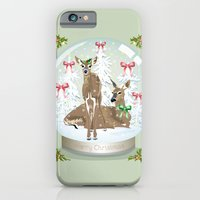 iPhone & iPod Case featuring Snow globe deer by Dawn Dudek