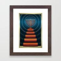 Art Deco Hanukkah Menorah Framed Art Print