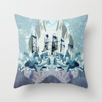Crystal City Throw Pillow