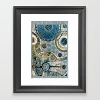 iPhone Gears Framed Art Print