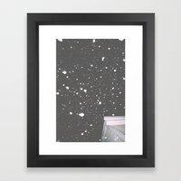 Snowfall Grantville Framed Art Print