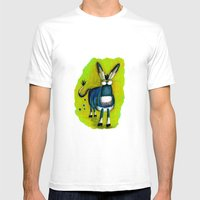 Donkey Mens Fitted Tee White SMALL