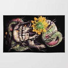 Snake and Skull Rug