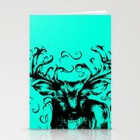 Deer Color Stationery Cards