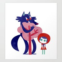 Red Riding Hood - Tricol… Art Print